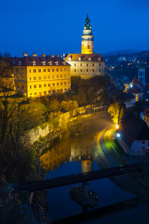 Evening Blick auf Cesky Krumlov, Tschechische Republik Editorial