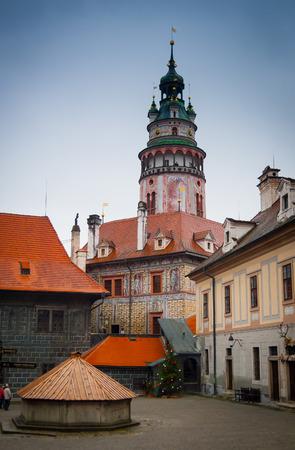 Castle tower, Cesky Krumlov castle complex, Czech Republic