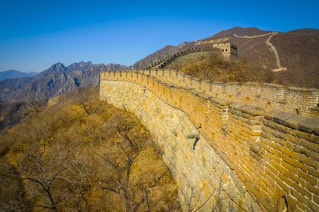 Restauriert Große Mauer bei Mutianyu, nahe Beijing, China