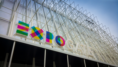 delays: Milan, Italy - March 17, 2015: Expo Gate in Piazza Castello, Milan, Italy. Despite the initial delays Milan is almost ready for Expo 2015. Editorial