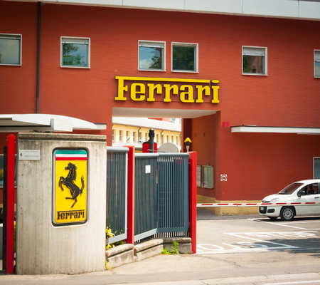 famous industries: MARANELLO, ITALY - MAY 20: Original entrance to Ferrari factory on may 20th, 2016.
