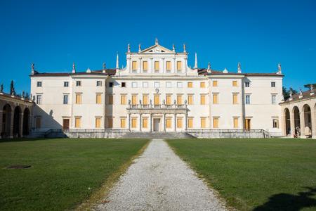 Facade of Villa Manin palace, near Udine, Friuli, Italy