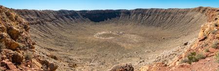 Panoramablick auf Meteorkrater in Coconino County, Arizona, USA