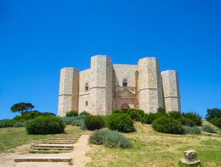 View of medieval fortress Castel del Monte, Andria, Apulia, Italy