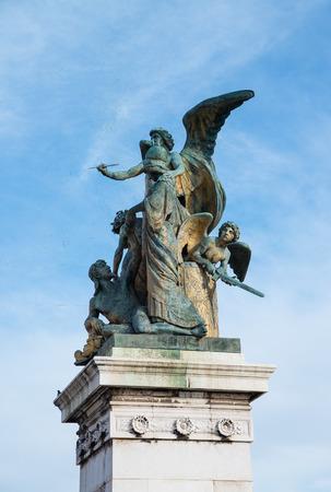 Statue front Altare della Patria in Rome Italy