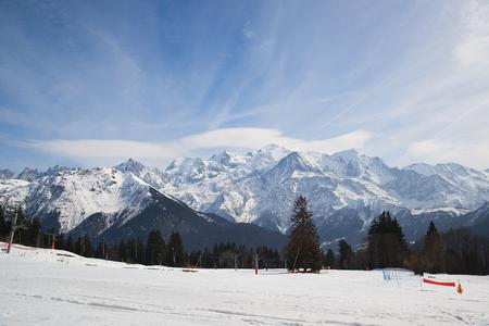Mont Blanc mountain massif, France