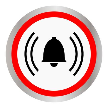 intruder: An alarm icon Illustration