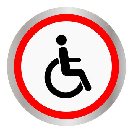 Disabled sign icon illustration. Illustration