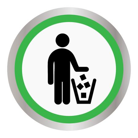 Aucune illustration d'icône de signe de détritus. Banque d'images - 88648271