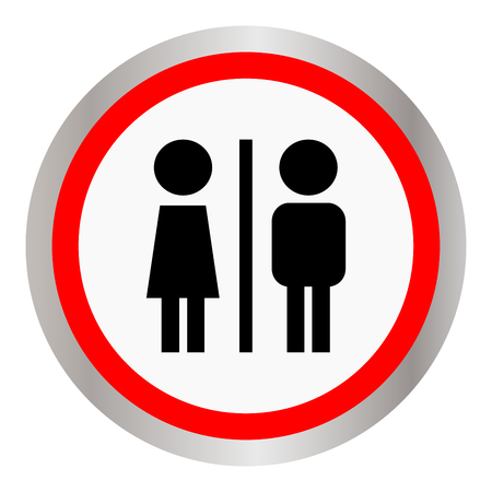 Toilet, wc, restroom sign icon template.