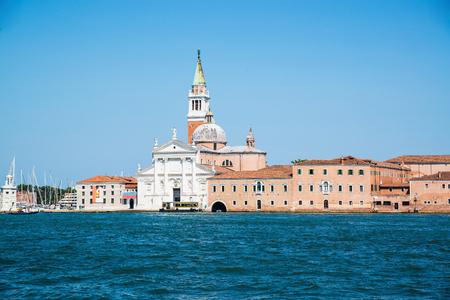 베니스, 이탈리아에서 산 조르지오 Maggiore의 성당입니다. 스톡 콘텐츠