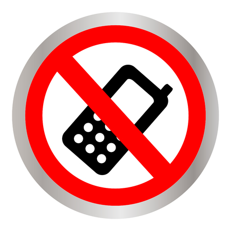 No cellphone allowed sign. Illustration