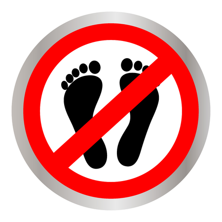 Not Walk icon great for any use. Illustration