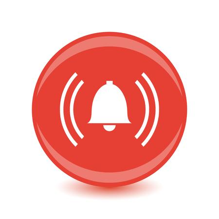intruder: alarm red circle web glossy icon