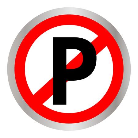 Geen pictogram van het parkerenteken op witte achtergrond.