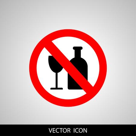 interdiction: pas de signe d'alcool Illustration