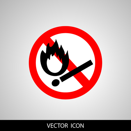forewarn: Vector illustration of a red and white sign