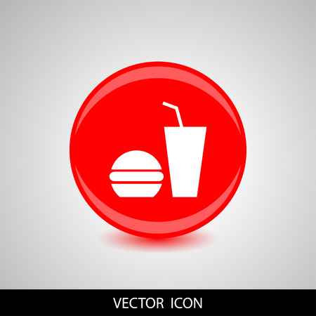 bun: Fast food icon vector illustration. Illustration