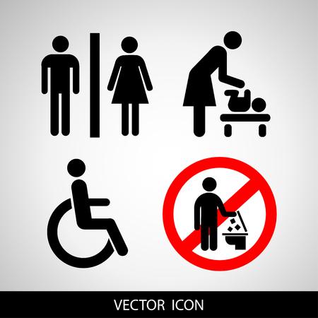 social icons vector illustration. Illustration