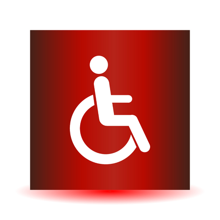 Disabled icon sign flat design vector illustration