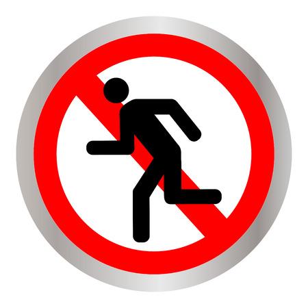 Geen lopende teken pictogram illustratie.