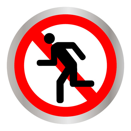 No running sign icon illustration.