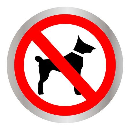No dog sign icon illustration.