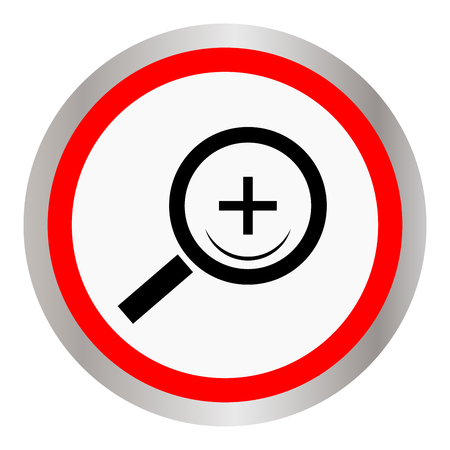 Magnifier icon vector illustration.