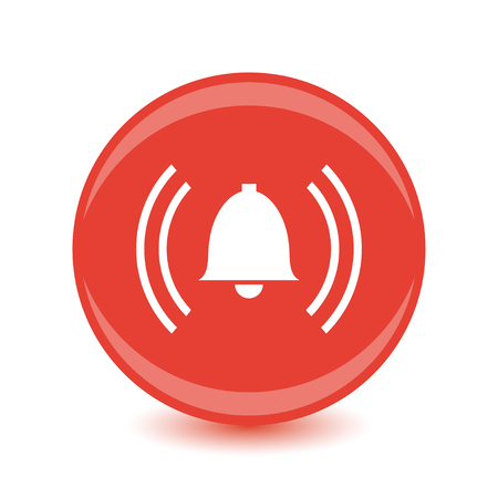 アラーム赤丸 web 光沢のあるアイコン
