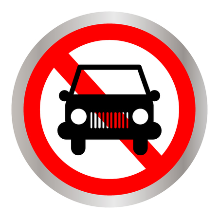 No car or transport sign, vector illustration