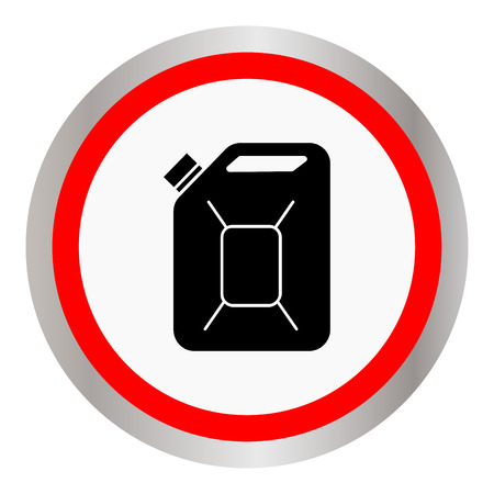 Fuel Can vector icon. Jerrycan oil. vector icon Illustration