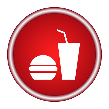 Fast food icon. Vector illustration.