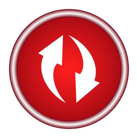 Update icon button refresh or repeat symbol vector illustration Ilustração