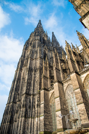 Cologne Cathedral.   a Roman Catholic Gothic cathedral in Cologne.