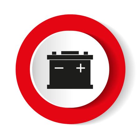 車のバッテリー アイコン