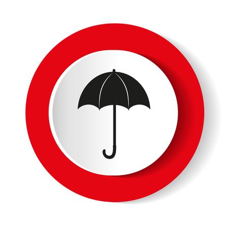 umbrella red Icon vector flat design.