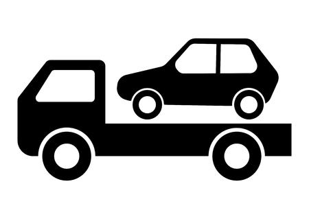 Car Towing Truck Vector Illustration Illustration