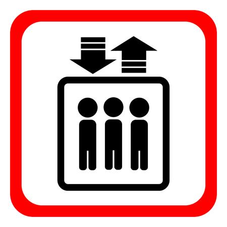 Elevator icon. Vector illustration.