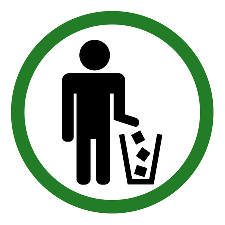 Do not litter sign. Vector illustration.