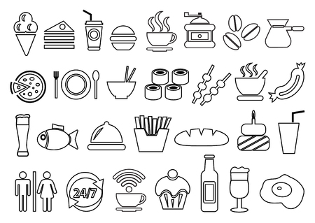 Vector food and drink icons set