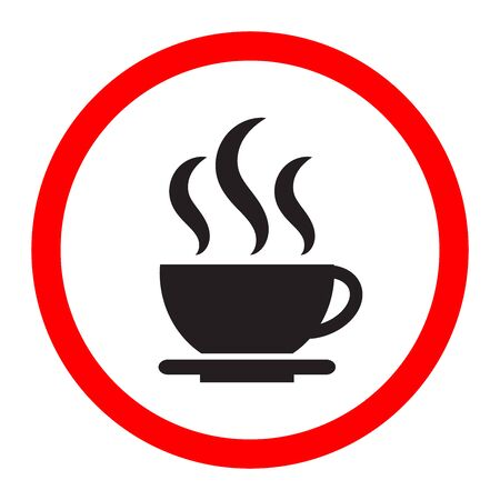 Black coffee icon on a white background.  イラスト・ベクター素材