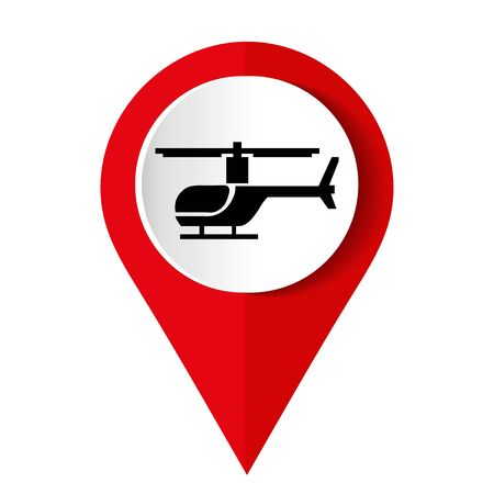 A helicopter icon on a white background. Vector illustration.
