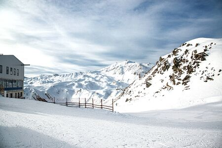 Winter in the Alps mountains, Ischgl Austria.