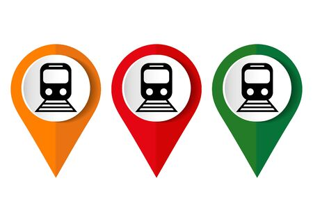 Train vector icon, flat design internet button, web and mobile app illustration