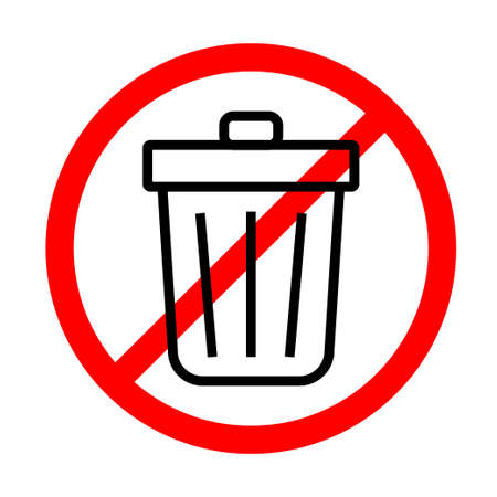 Do not throw in the trash icon. Special disposal sign. Vector illustration.