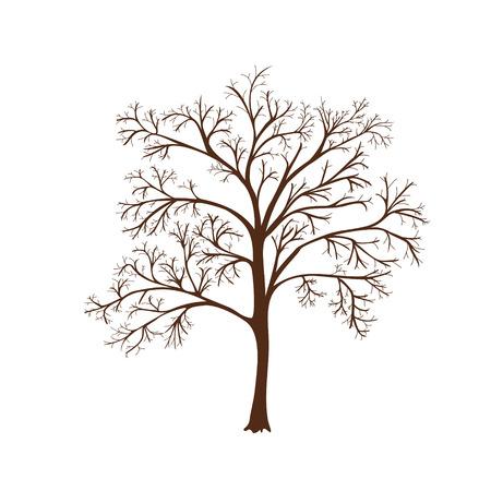 アイコンの葉のない木のシルエット  イラスト・ベクター素材