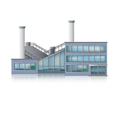 Pictogram Factory en kantoorgebouw. Stock Illustratie