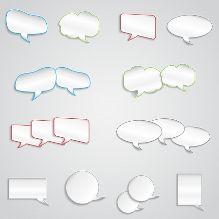 message box: empty text box of different shapes with shadow