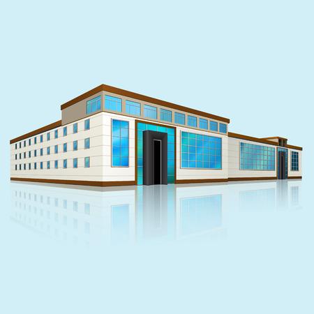 Centro commerciale con la riflessione su sfondo blu Archivio Fotografico - 29297961