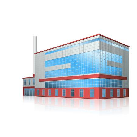 オフィス、生産設備、反射の工場